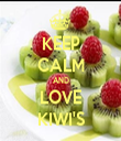 KEEP CALM AND LOVE KIWI'S - Personalised Tea Towel: Premium