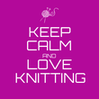 KEEP CALM AND LOVE KNITTING - Personalised Tea Towel: Premium