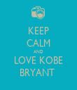 KEEP CALM AND LOVE KOBE   BRYANT    - Personalised Tea Towel: Premium