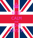 KEEP CALM AND LOVE KRYSTA - Personalised Tea Towel: Premium