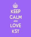 KEEP CALM AND LOVE KST - Personalised Tea Towel: Premium