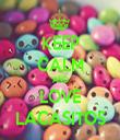 KEEP CALM AND LOVE LACASITOS - Personalised Tea Towel: Premium