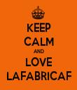 KEEP CALM AND LOVE LAFABRICAF - Personalised Tea Towel: Premium