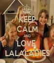 KEEP CALM AND LOVE  LALALADIES - Personalised Tea Towel: Premium