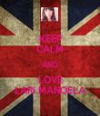 KEEP CALM AND LOVE LARI MANOELA - Personalised Tea Towel: Premium