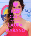 KEEP CALM AND LOVE LAURA MARANO - Personalised Tea Towel: Premium