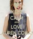 KEEP CALM AND LOVE LAUREN COHAN - Personalised Tea Towel: Premium