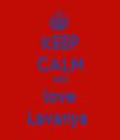 KEEP CALM AND love Lavanya  - Personalised Tea Towel: Premium