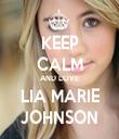 KEEP CALM AND LOVE LIA MARIE JOHNSON - Personalised Tea Towel: Premium