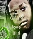 KEEP CALM AND love lil d - Personalised Tea Towel: Premium