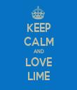 KEEP CALM AND LOVE LIME - Personalised Tea Towel: Premium