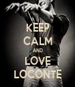KEEP CALM AND LOVE LOCONTE - Personalised Tea Towel: Premium