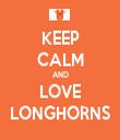 KEEP CALM AND LOVE LONGHORNS - Personalised Tea Towel: Premium