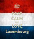 KEEP CALM AND LOVE Luxembourg - Personalised Tea Towel: Premium