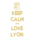 KEEP CALM and LOVE LYON - Personalised Tea Towel: Premium
