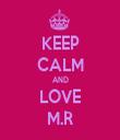 KEEP CALM AND LOVE M.R - Personalised Tea Towel: Premium