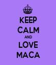 KEEP CALM AND LOVE MACA - Personalised Tea Towel: Premium