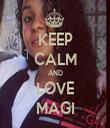 KEEP CALM AND LOVE MAGI - Personalised Tea Towel: Premium