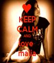 KEEP CALM AND love  malia - Personalised Tea Towel: Premium