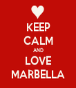 KEEP CALM AND LOVE MARBELLA - Personalised Tea Towel: Premium