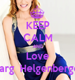 KEEP CALM AND Love Marg  Helgenberger - Personalised Tea Towel: Premium