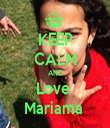 KEEP CALM AND Love  Mariama  - Personalised Tea Towel: Premium