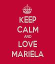 KEEP CALM AND LOVE MARIELA - Personalised Tea Towel: Premium
