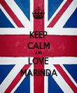 KEEP CALM AND LOVE MARINDA - Personalised Tea Towel: Premium