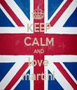 KEEP CALM AND love martini - Personalised Tea Towel: Premium