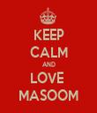 KEEP CALM AND LOVE  MASOOM - Personalised Tea Towel: Premium