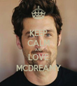 KEEP CALM AND LOVE MCDREAMY - Personalised Tea Towel: Premium