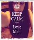KEEP CALM AND Love Me... - Personalised Tea Towel: Premium