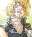 KEEP CALM AND LOVE MELLO  - Personalised Tea Towel: Premium