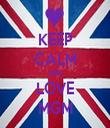 KEEP CALM AND LOVE MGM - Personalised Tea Towel: Premium
