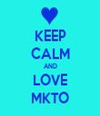 KEEP CALM AND LOVE MKTO - Personalised Tea Towel: Premium