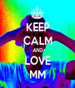 KEEP CALM AND LOVE MM - Personalised Tea Towel: Premium