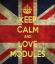 KEEP CALM AND LOVE MODULES - Personalised Tea Towel: Premium