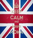 KEEP CALM AND love MOKA - Personalised Tea Towel: Premium