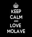 KEEP CALM AND LOVE  MOLAVE - Personalised Tea Towel: Premium