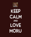 KEEP CALM AND LOVE MORU - Personalised Tea Towel: Premium