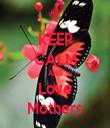 KEEP CALM AND Love Mothers - Personalised Tea Towel: Premium