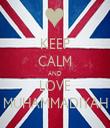 KEEP CALM AND LOVE MUHAMMADIYAH - Personalised Tea Towel: Premium