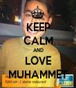 KEEP CALM AND LOVE MUHAMMET - Personalised Tea Towel: Premium