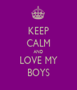 KEEP CALM AND LOVE MY BOYS - Personalised Tea Towel: Premium