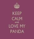KEEP CALM AND LOVE MY PANDA - Personalised Tea Towel: Premium