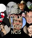 KEEP CALM AND LOVE NCIS - Personalised Tea Towel: Premium