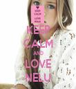 KEEP CALM AND LOVE NELU - Personalised Tea Towel: Premium