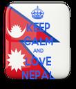 KEEP CALM AND LOVE NEPAL - Personalised Tea Towel: Premium