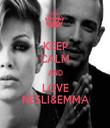 KEEP CALM AND LOVE NESLI&EMMA - Personalised Tea Towel: Premium