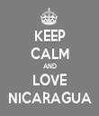 KEEP CALM AND LOVE NICARAGUA - Personalised Tea Towel: Premium